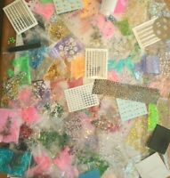 Bundle of 25 assorted Nail Art items Rhinestone Stickers Silver Guide AB Glitter