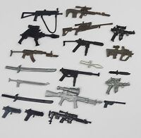 "random lot 20 GI Joe Cobra 3.75""  figure's  Accessories Guns sword  Weapons"
