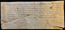 KING LOUIS XV SIGNED COMMISSION ON JUDGMENT LETTER - 1723 König von Frankreich