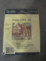 CRAFTERS SQUARE COUNTED CROSS STITCH KIT COMING HOME VICTORIAN COTTAGE