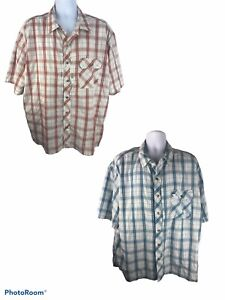LO2 Propper Mens 2XL Striped Short Sleeve Snap Up Shirts