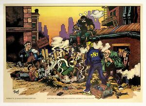 """Poster originale di Magnus Alan Ford 1973 """"Deflagrazione nella Palestra"""""""