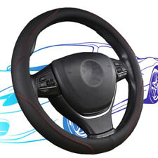 PU Leather Car Steering Wheel Cover Breathable Anti-slip Protector 38cm/15""