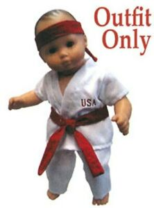 """New """"White Karate Outfit"""" fits 15"""" American Girl Bitty Baby - Outfit Only"""