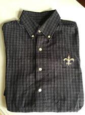 NEW ORLEANS SAINTS Men's SMALL Button Down Dress Shirt ANTIGUA Football NFL