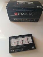 10x BASF 90 CHROMDIOXID Super II HIFI-Stereo- Kassette,Orig.verpackt,1982 Silber