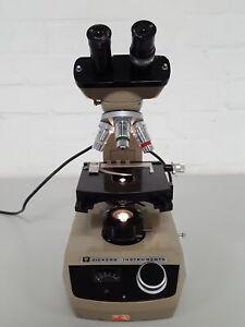 Vickers M15 Binocular Microscope +3 Objectives, 100/1.3 OIL, 40x 0.75, 10/0.25
