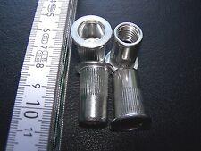 50 Blindnietmuttern M12 Alu Flachkopf Klemmbereich 7-10mm mit Rändelung #TC112