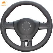 Black Leather Steering Cover for Volkswagen Tiguan Lavida Jetta Mk6 Passat B7