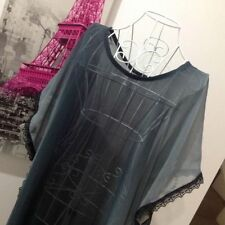 Plus Solid Chiffon Batwing, Dolman Tops & Blouses for Women