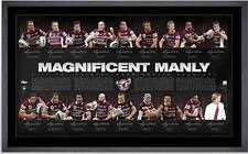 2011 Manly Sea Eagles Hand Signed & Framed Premiership Limited Edition Print COA