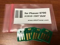 4 x Toner Chip (1510 - 1507 Sold) for Xerox Phaser 6700, 6700 N DN Refill