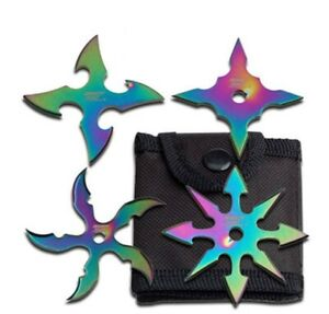 Throwing Stars Practice Ninja Training Dense Foam - Set of 4 Throwing Stars
