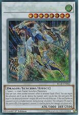 YU-GI-OH CARD: CRYSTAL WING SYNCHRO DRAGON -SECRET RARE -BLLR-EN062 -1st EDITION