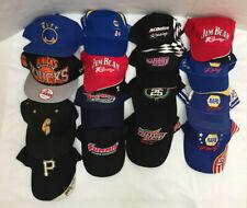 Lot Of 16 Nascar/Basket Ball/Baseball + Other Adjustable Cap/ Hats