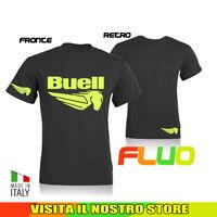 T SHIRT MAGLIA BUELL MOTO TUNING AUTO BIKER IDEA REGALO FLUO UOMO DONNA
