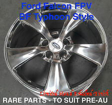 4 x Dark Argent Style 18 inch Alloy Wheel Polish Ford Falcon EB ED EF EL XG XH