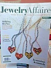 Jewelry Affaire BEADING BOOK MAGAZINE SPRING 2017 Elegant FLower Hearts Beads