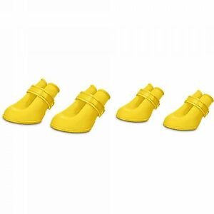 Good2Go Rain or Yellow Silicone Dog Boots Size Extra Small
