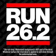 RUN 26.2 Vinyl Decal Sticker Running Marathon Fitness dmc 5k Ironman Triathlon
