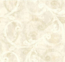 York Whisper Prints Brushed Scroll Wallpaper per Double Roll     BR6233