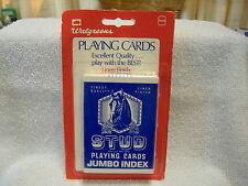 Vintage Stud Blue Horse Jumbo Sealed Deck Of Poker Playing Cards NIP NOS