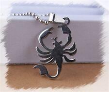Mens Ladies Unisex Stainless Steel Pendant Scorpion Sexual Energy Necklace Chain