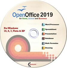 Open Office 2019 Software Suite for Microsoft Windows for Home and Student CD