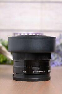 Sony SEL35F18 35mm F/1.8 OSS Lens E mount APS-C w/Caps & Hood