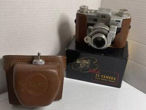 1940 WW II Kodak 35 mm Rangefinder Camera w/ Anastar f:3.5 50 mm W/ Case And Box