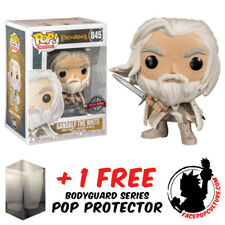 FUNKO POP VINYL LORD OF THE RINGS GANDALF THE WHITE WITH SWORD #845 EXCLUSIVE