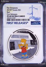 2019 The Simpsons BART Simpson Proof $1 1oz Silver COIN NGC PF 69 FR PF69