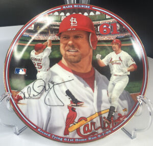 Mark McGwire The Bradford Exchange Collectible Plate Home Run #61 1998 Cardinals