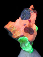 FRANKLINITE WILLEMITE CALCITE Fluorescent Crystal Mineral Specimen NEW JERSEY