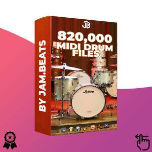 820,000 Drum Midi Collection EZ Drummer Superior Drummer Battery Addictive Drums
