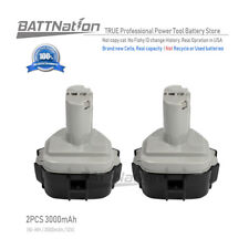 2 x 12V Extended 3000mAh Ni-Mh Battery for MAKITA 1233 1234 1235 1235F 192698-8