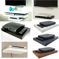 Floating Media Shelves Shelf For DVD SKY BOX TV AV Xbox Wall Mounted Kit Gloss