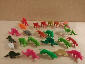 Vintage Plastic Toy Dinosaur Figures Mixed Lot Hong Kong DFC Unbranded