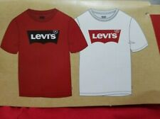 NEW BOYS SIZE MEDIUM 10/12 LEVI'S GRAPHIC TEE T SHIRT 2 PIECE PACK SET