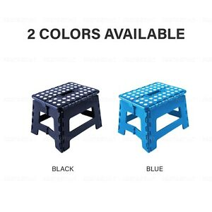REGULAR PLASTIC FOLDING STOOL Step Portable Chair Store Flat Outdoor Camping AU