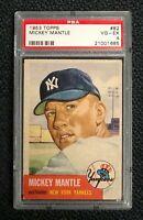 New York Yankees Mickey Mantle 1953 Topps #82 PSA 4 Vg-Ex Well Centered