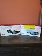 LG AG-S250 3D Rechargeable Glasses TV or Projector TWO Pairs NEW in Box Sealed