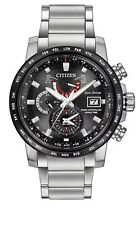 New Citizen Eco-Drive World Time AT Black Dial Stainless Men's Watch AT9071-58E