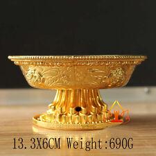 Buddha Tibet Tibetan Buddhist Alloy Offering  Bowl Vessel family hall Temple