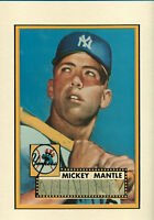 MICKEY MANTLE  SIGNED AUTOGRAPHED CUT ON 11X14 1952 TOPPS MATTED PHOTO PSA/DNA