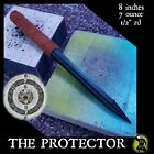 """THE PROTECTOR"" BLACK STEEL NINJA  SPEAR TIP THROWING TORPEDO SPIKE LEATHER WRAP"
