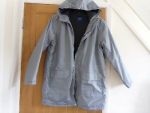 LADIES WARM COAT COTTON TRADERS SLATE GREY IN COLOUR, 14/16. M. HIP LENGTH.