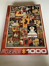 Eurographics Puzzle 1000 Piece Vintage European Posters Advertising NEW
