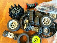 LEGO Bulk lot WHEELS 1/2 lb pound Tires Axles Car Vehicle Lots of Parts Vehicles