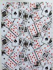 2 x A4 Playing Cards Patterned Backing Paper NEW